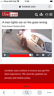 A man lights car on fire goes wrong