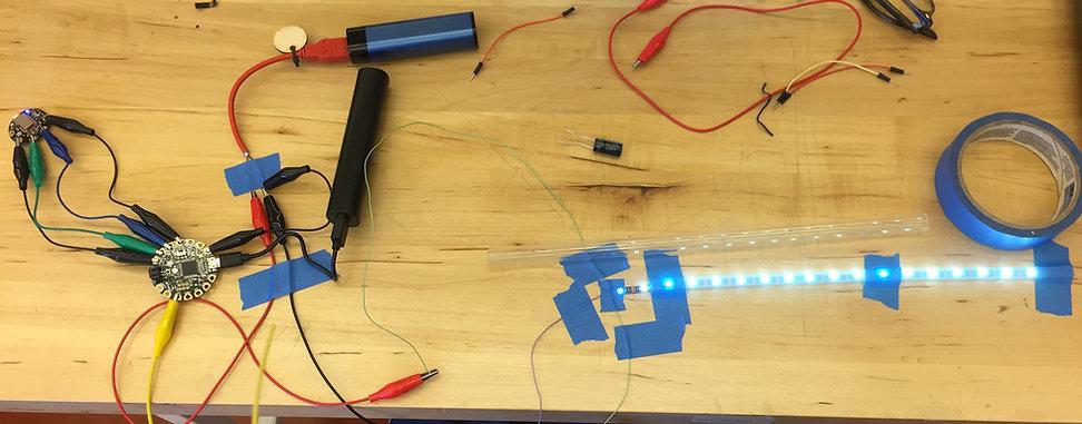 Arduino Adafruit Bluefruit LE Magic Wand Prototyping