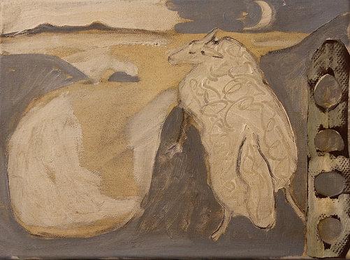 Ann Farley, Ewe on the cliff path