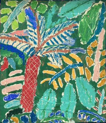 Rosa Roberts, Tropical garden with fern tree
