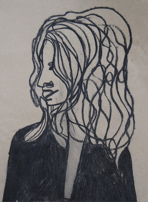 Lizbeth Holstein, Molly in charcoal