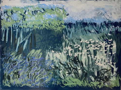 Claire Oxley, Late bluebells, early daisies