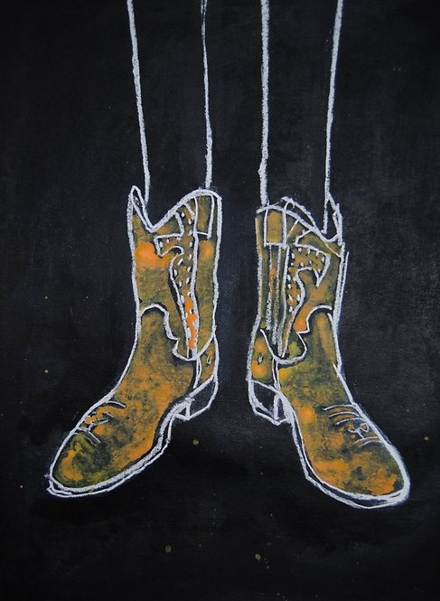 Lizbeth Holstein, Gold Cowboy Boots