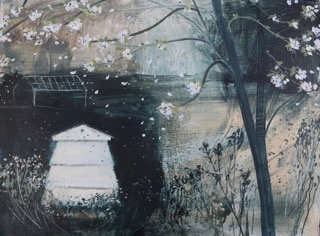 Jane Askey, Blossom and bees dusk