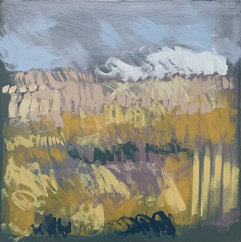 Claire Oxley, Mist beyond the wheatfield