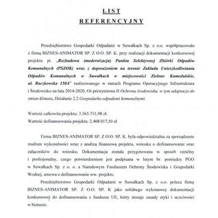 Referencje PGO Suwałki PSZOK