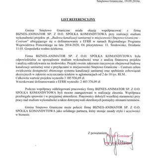 Referencje Gmina Smętowo Graniczne