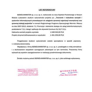 Referencje Nowe Miasto Lubawskie