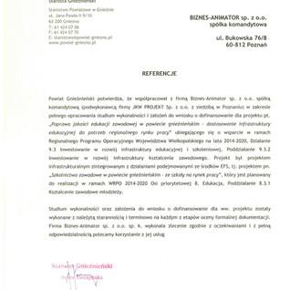 Referencje Powiat Gnieźnieński edukacja