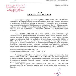Referencje Gmina Ryjewo