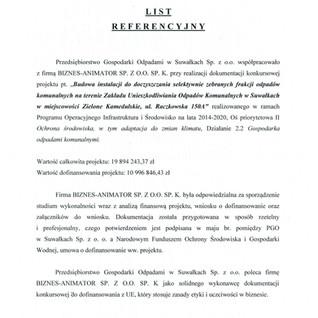 Referencje PGO Suwałki instalacja
