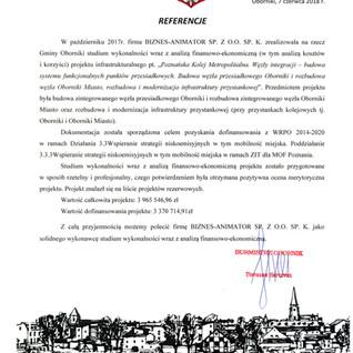 Referencje Gmina Oborniki transport