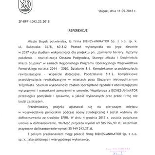 Referencje Miasto Słupsk rewitalizacja