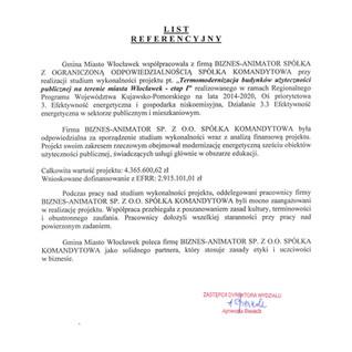 Referencje Gmina Miasto Włocławek termomodernizacja