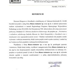 Referencje Muzeum Okręgowe w Suwałkach