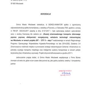 Referencje Gmina Miasto Włocławek BIT CTY etap II