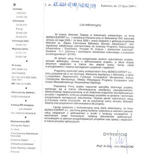 Referencje Biblioteka Śląska