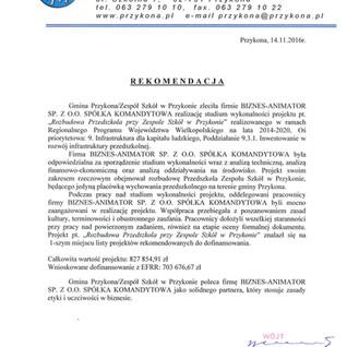 Referencje Gmina Przykona