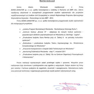 Referencje Gmina Miasto Włocławek