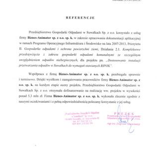 Referencje PGO Suwałki RIPOK