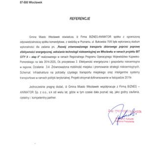 Referencje Gmina Miasto Włocławek BIT CTY etap I