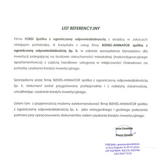 Referencje FORSI