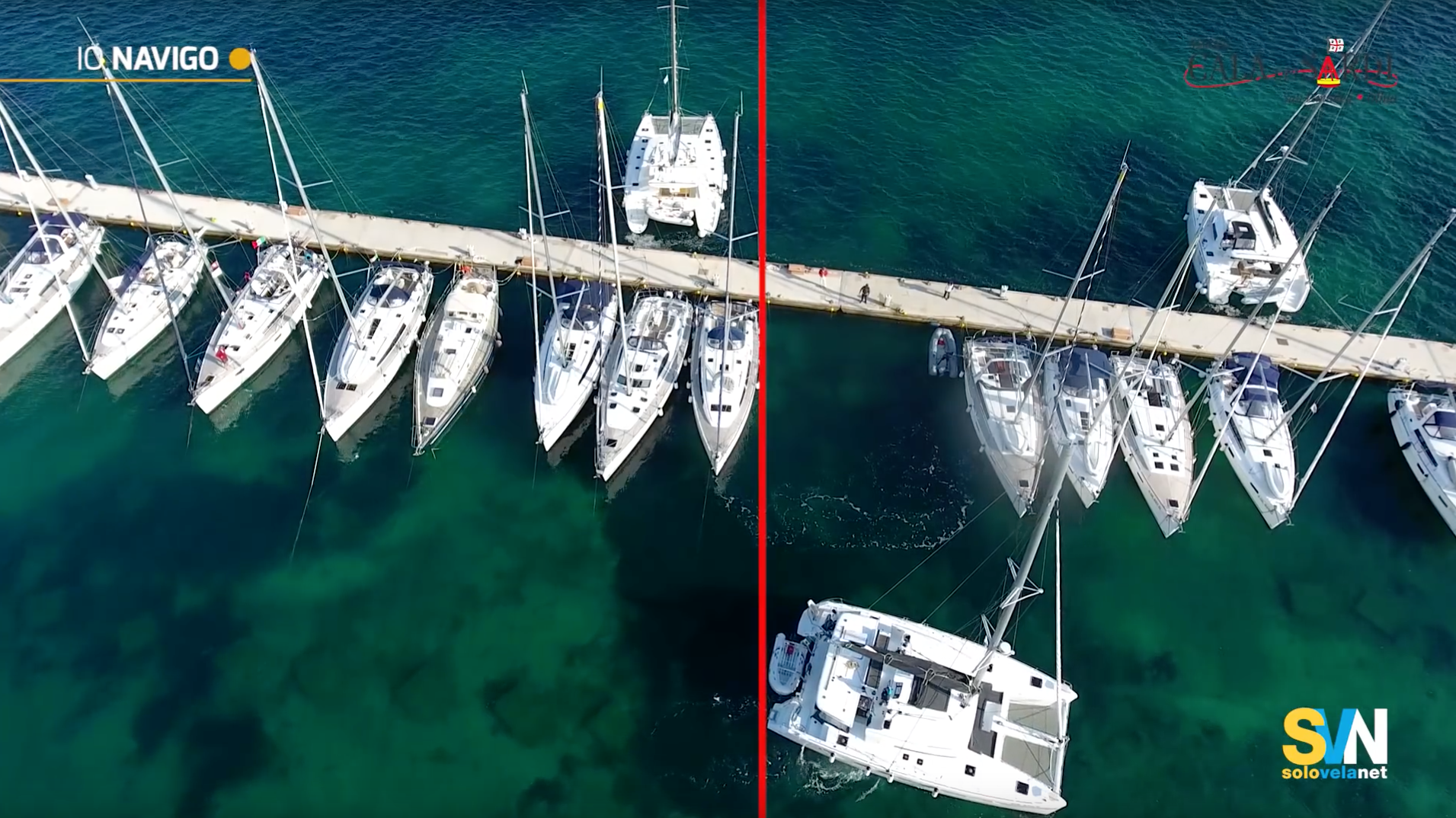 Ormeggiare un catamarano