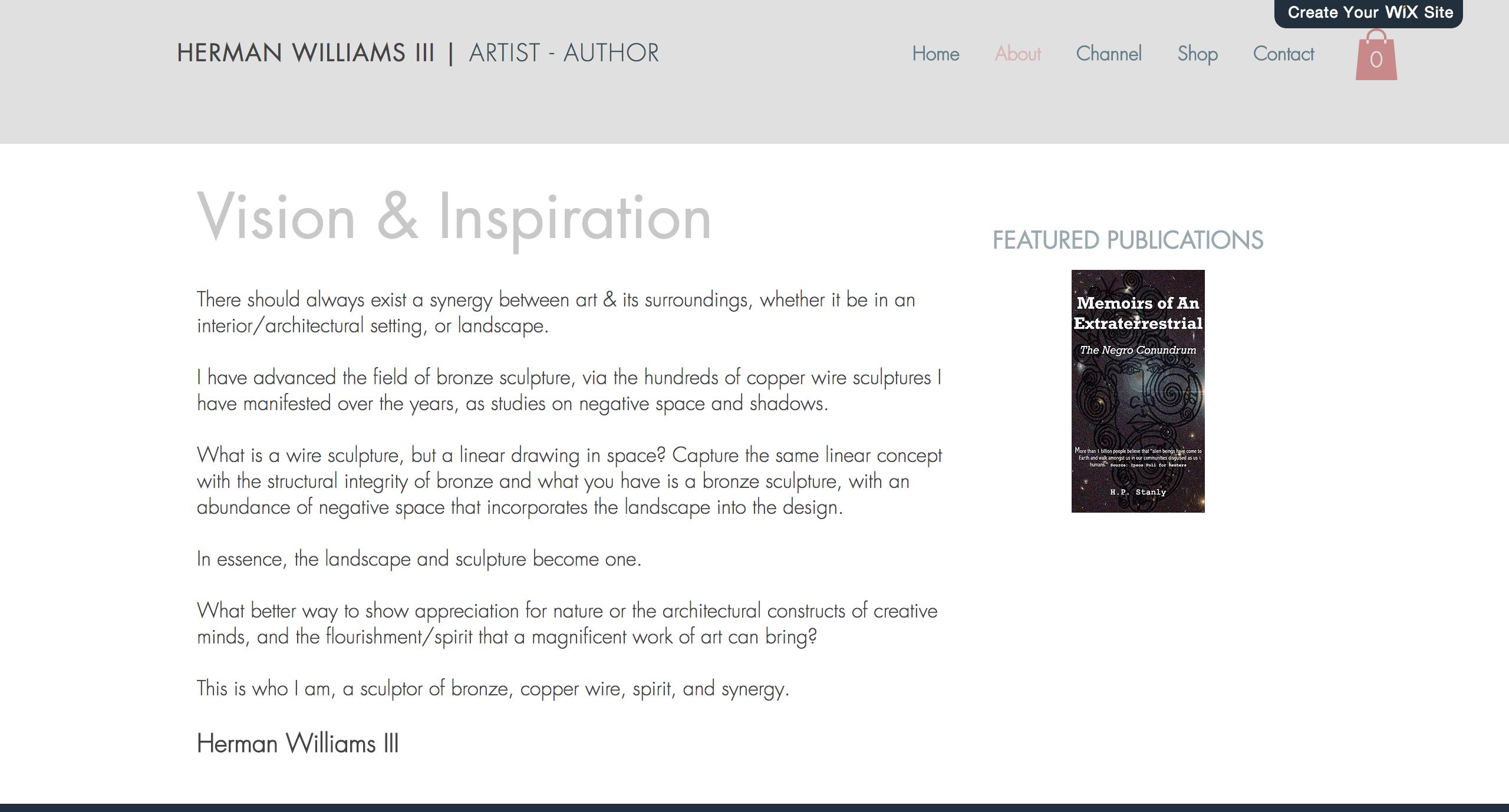 Web Design Artist Portfolio