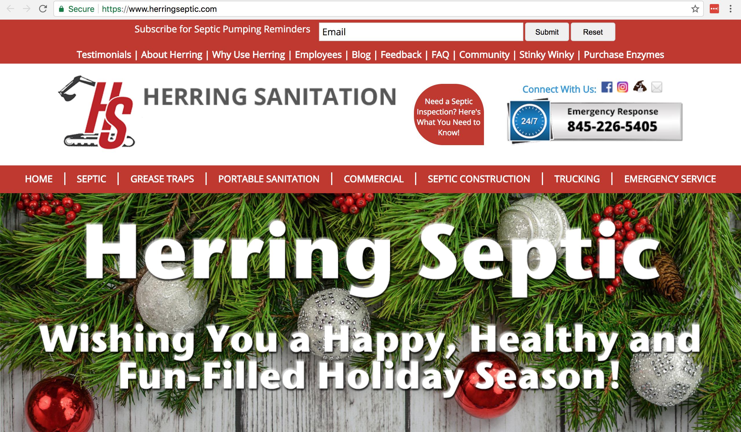 Web Design Herring Sanitation