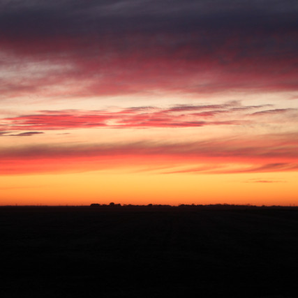 I love the living sky that dances above the prairie.