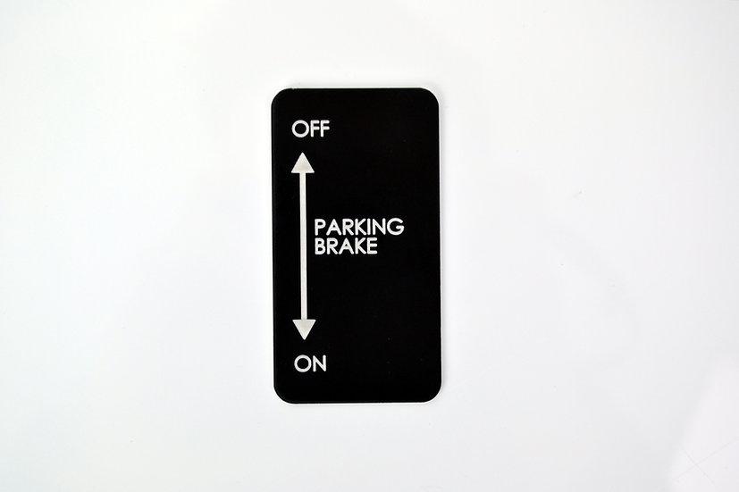 Parking Brake Aircraft Placard