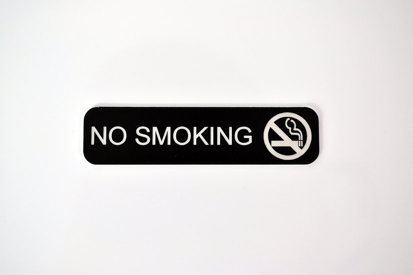 No Smoking Aircraft Placard