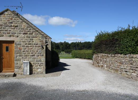 Cottage bootroom and parking