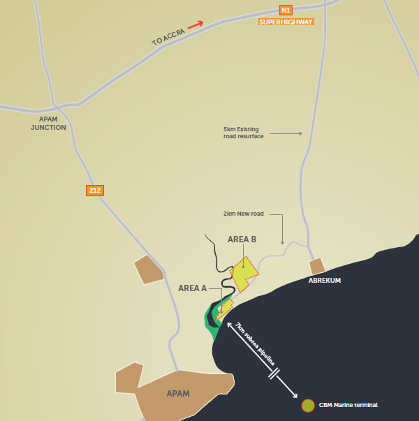 A map of the Apam site