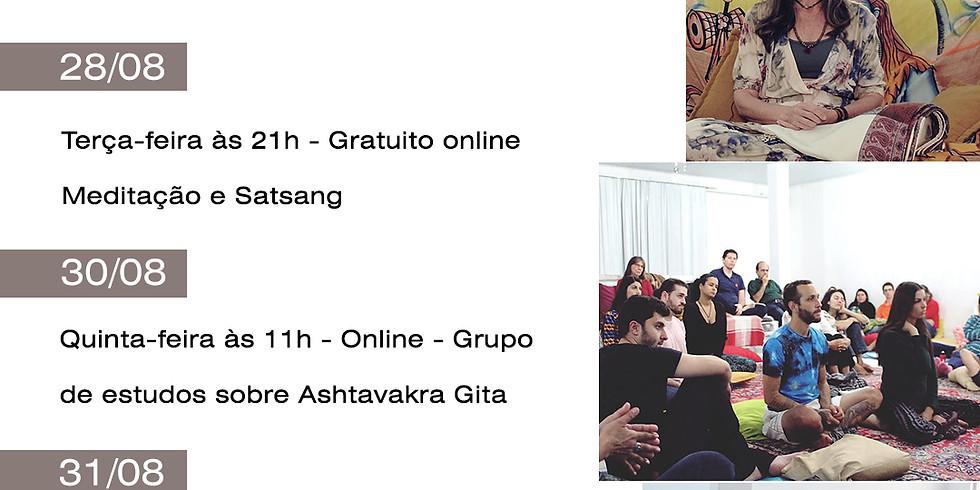 Satsang e Meditação online gratuito