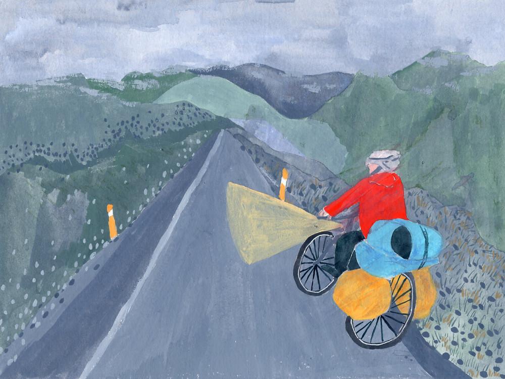 騎在寂靜的山路,整個世界彷彿只剩下我們