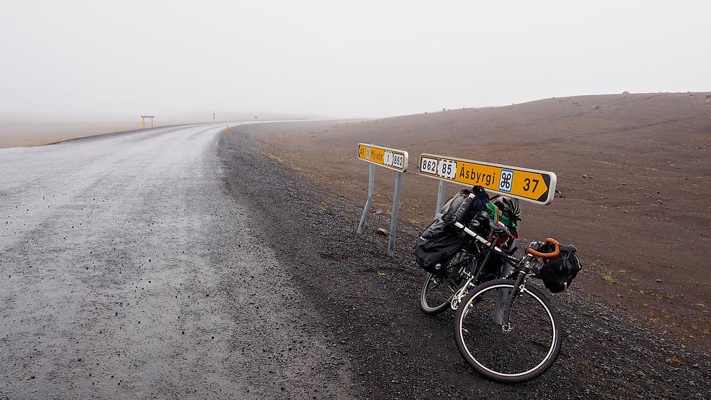 Dettifoss往Asbyrgi的85縣道