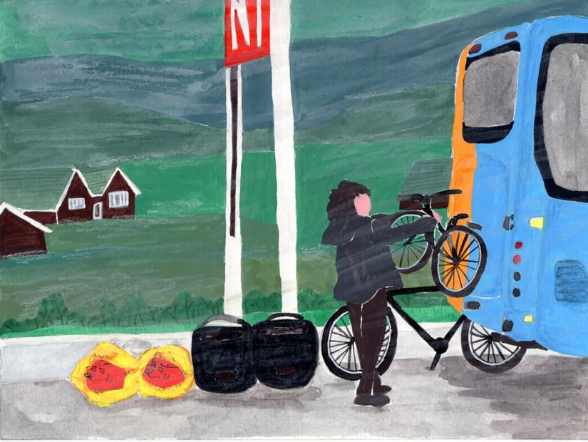 Iceland A-Z: Vehicle 帶著單車搭冰島巴士