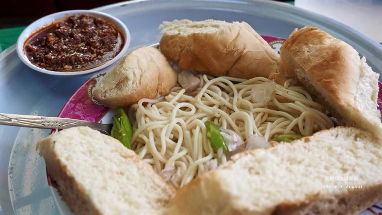 中餐吃義大利麵,滿滿一盤20Birr,約台幣30元