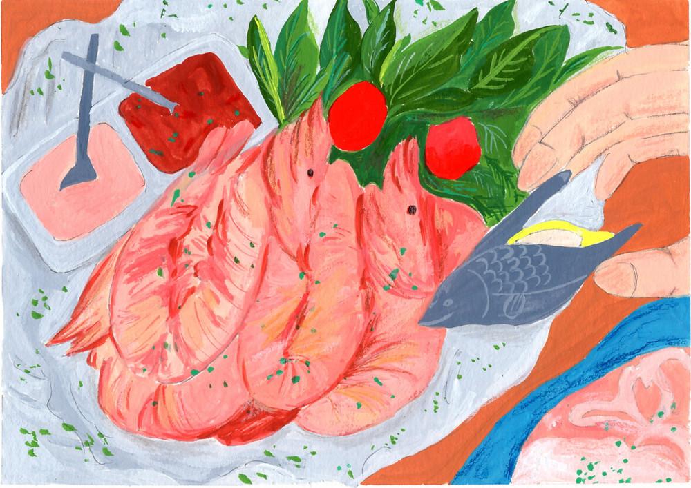 這篇靈感來自於,在Hofn吃龍蝦大餐時,旁邊這個可愛的器具,是用來擠檸檬/萊姆?汁調味的