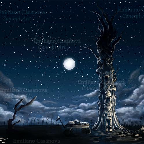 """""""Masked Tree"""" Print"""