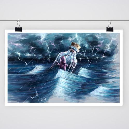 """Thru the waves"" Print"