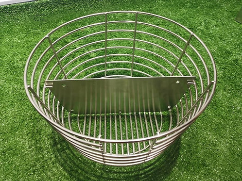 Charcoal basket with divider