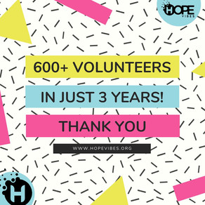 600 Volunteers ... Thank You!