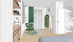 13 Vista general del espacio de trabajo del dormitorio