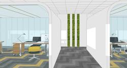 07 Vista de uno de los pasillos entre despachos. Comunicación con el archivo.
