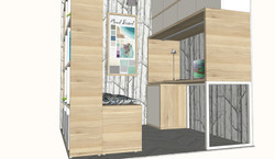 Diseño de espacio de trabajo personalizado. Estructura soporte de mesa