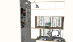 Diseño de espacio de trabajo personalizado. Mesa de trabajo