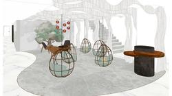 Lobby Sillas colgantes del jardín interior