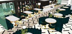 CAFETERÍA. Vista general zona de mesas